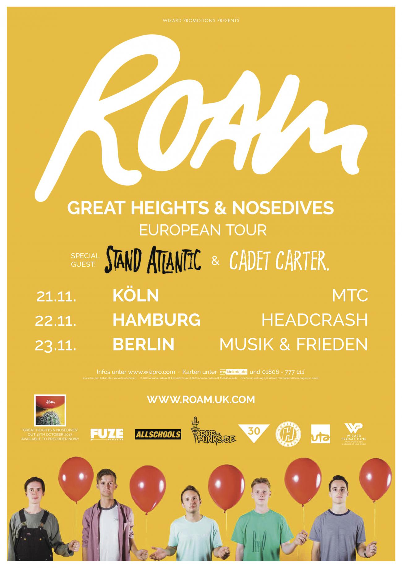 ROAM - Great Heights & Nosedives - European Tour 2017