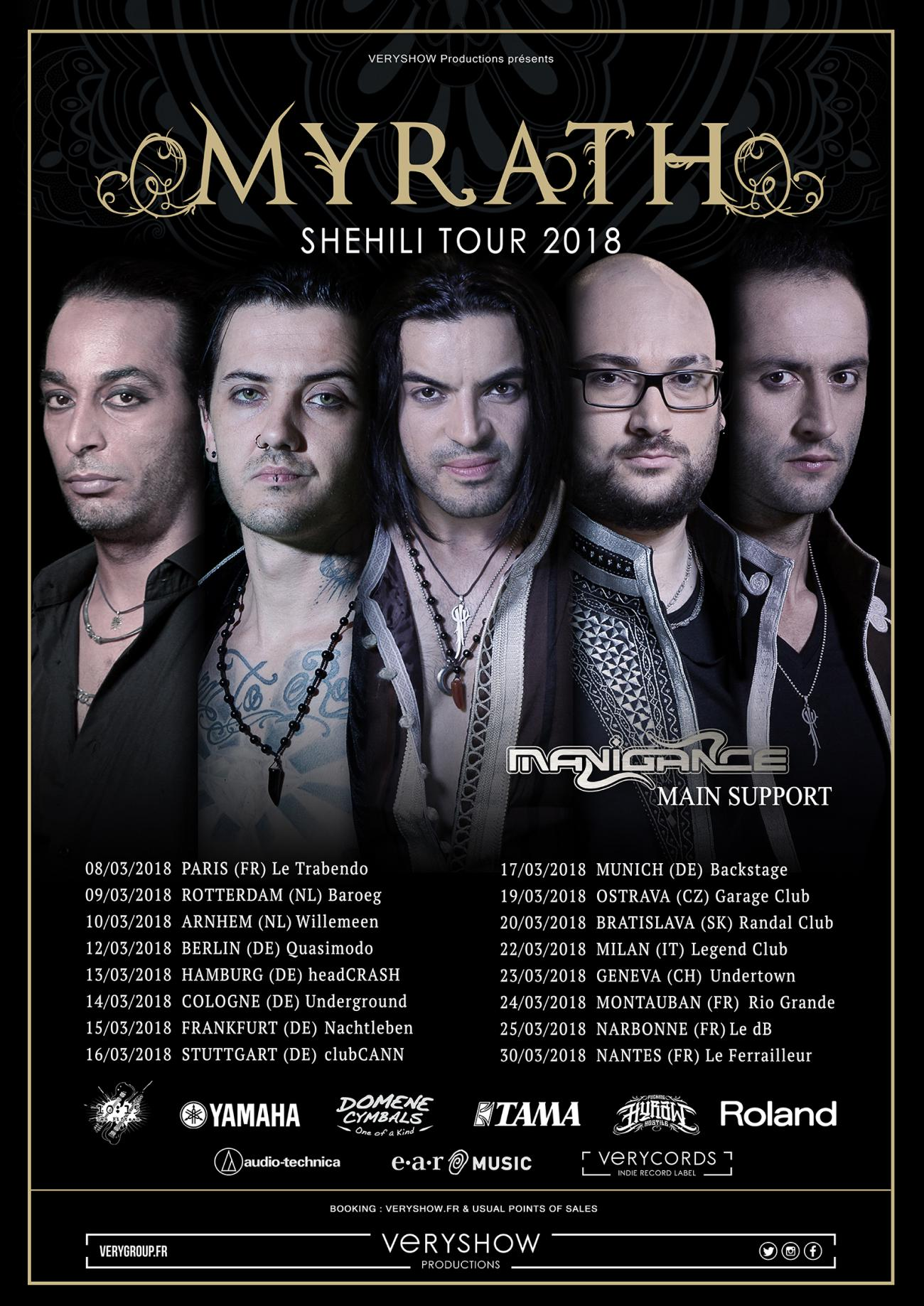 MYRATH - Shehili Tour 2018